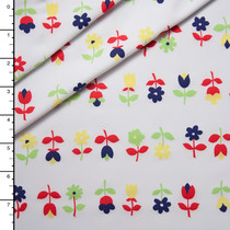 Rows of Flowers Nylon/Lycra Print
