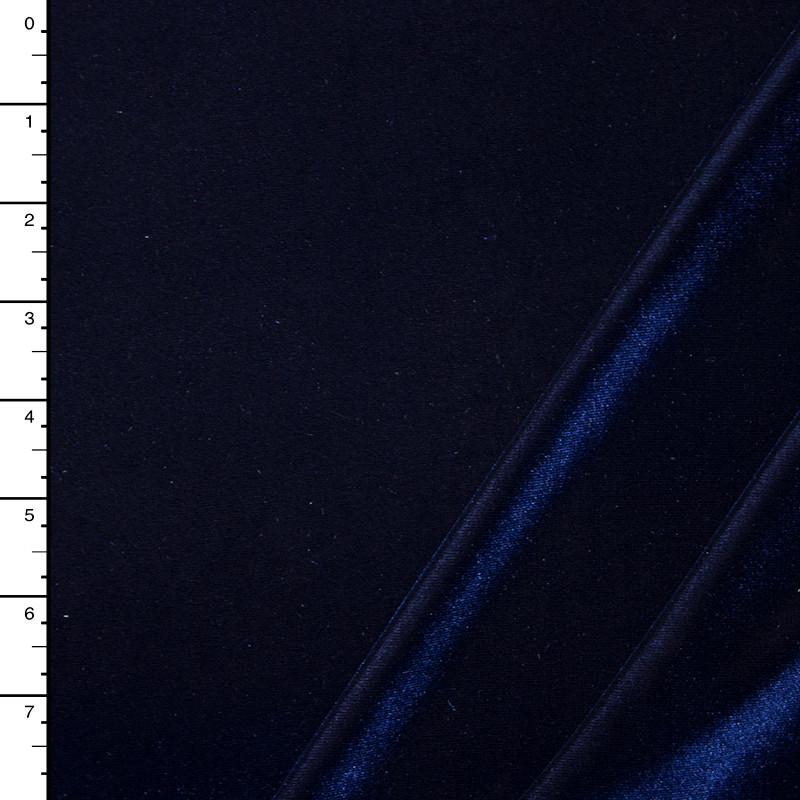 Navy Blue 4-way Stretch Velvet