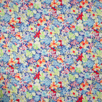 Neon Floral Nylon/Lycra Seersucker