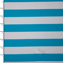 Baby Blue and White Striped Nylon/Lycra