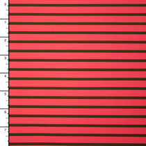 Hot Coral and Olive Stripe Nylon/Lycra Print