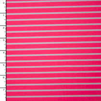 Neon Pink and White Stripe Nylon/Lycra Print
