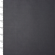 Grey and Black Mini Check Cotton Shirting