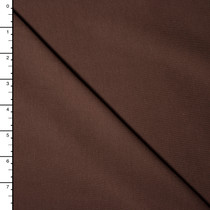 Chocolate Brown Premium Midweight Cotton Lycra Jersey Knit