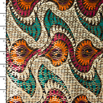 Metallic African Print Cotton #16266