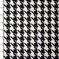 Black and White Houndstooth Nylon/Lycra Print