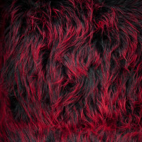 "Red on Black Shaggy 4.5"" Monster Faux Fur"