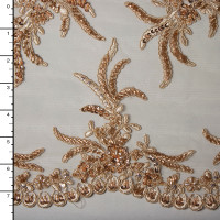 Gold Reimbroidered Beaded Bridal Lace