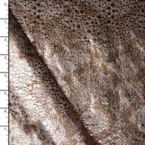 Bronze Metallic Snakeskin Nylon/Lycra
