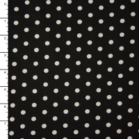 """White on Red Polka Dot 60"""" Cotton Broadcloth"""