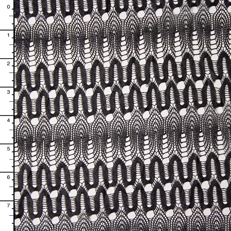 Black Slinky Art Deco Gemetric Lace