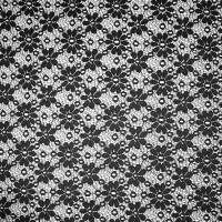 Black Daisies Floral Lace