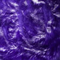 Purple on White Candy Shag Faux Fur
