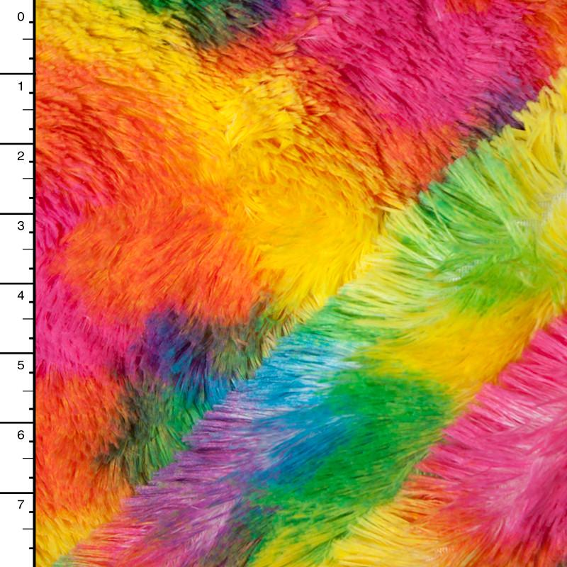 Neon Blotch Soft Shaggy Cuddle Fur