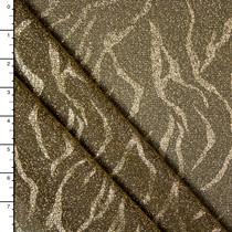 Metallic Gold Tiger Sparkle Knit