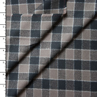 Black and Tan Plaid Mammoth Flannel by Robert Kaufman