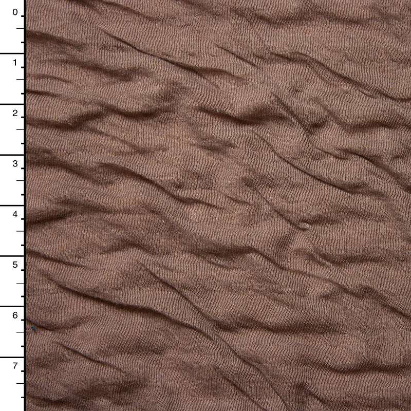 Brown Double Layered Crinkle Knit