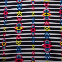 Rainbow Paint Splatter on Black 5.8oz Nylon/Lycra