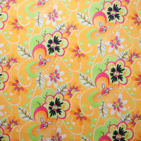 Lime and Yellow Fun Floral Print Nylon/Lycra