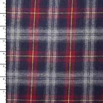 "Navy, Red, and Grey Plaid 45"" Flannel"