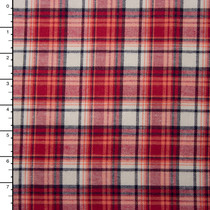 "Red, White, and Black Plaid 45"" Flannel"