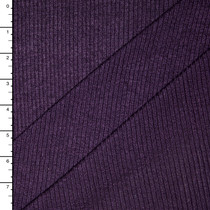 Plum Stretch Lightweight Ribbed Sweater Knit