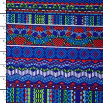 Bright Bohemian Stripe Print Nylon/Lycra
