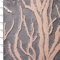 Gloss Ivory on Black Designer Lightning Sequin
