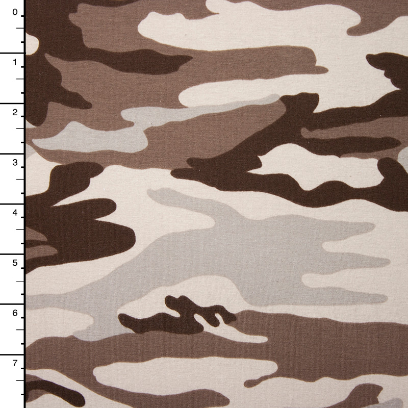Desert Camouflage Stretch Midweight Jersey Knit