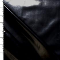 Black High Gloss Patent Leather Look Stretch Vinyl