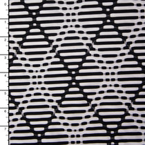 Black and White Argyle Plaid Midweight Nylon/Lycra
