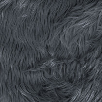 Grey Shag Faux Fur