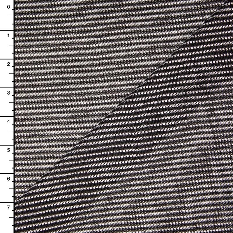 Black and Whtie Micro Stripe Lightweight Sweater Knit