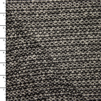 Black and White Mottled Soft Lightweight Sweater Knit