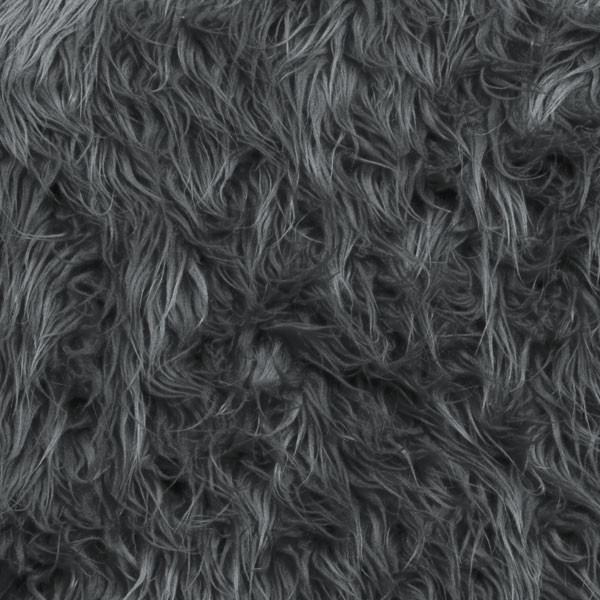Grey Mongolian Faux Fur