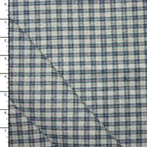 Blue an Grey Mini Plaid Heavyweight Flannel