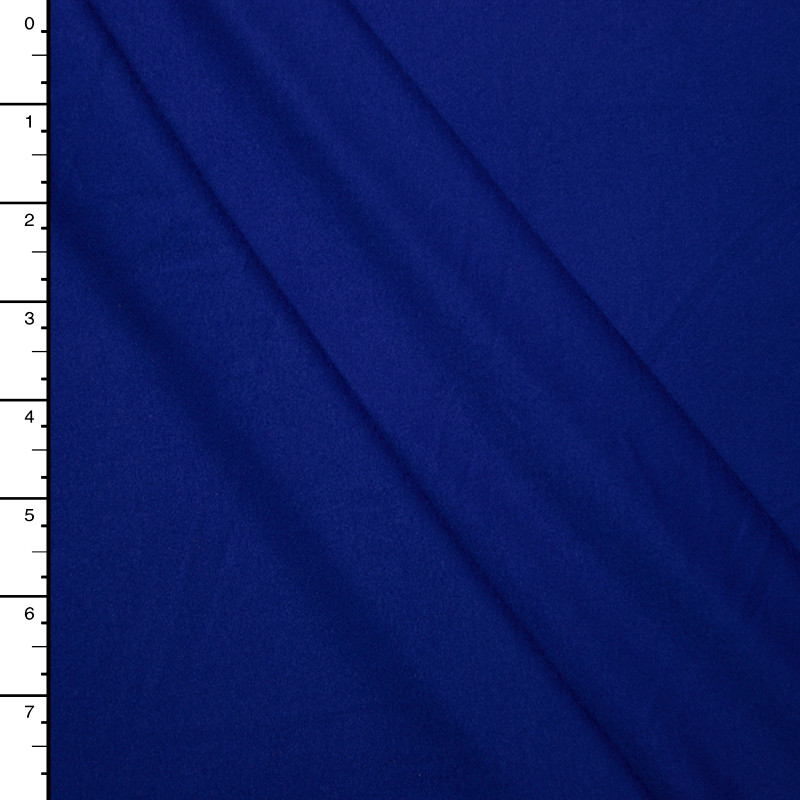 Royal Blue Double Brushed Poly Spandex Knit