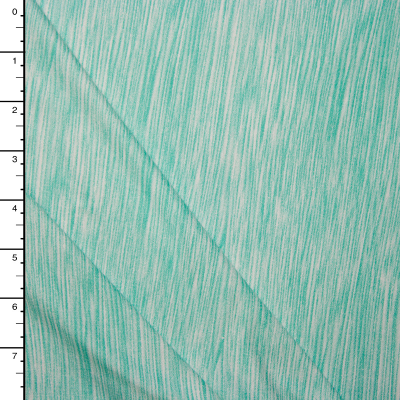 Bright Aqua Lined Double Brushed Poly Spandex Knit Print