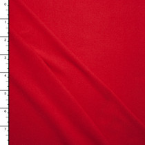 Bright Red Double Brushed Poly Spandex Knit