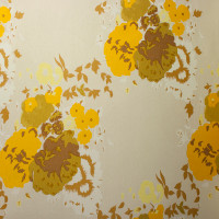 Mustard and Yellow Large Floral on Ivory