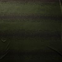 Black on Hunter Green Snakeskin Print Nylon/Spandex