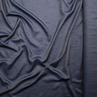 Lightweight Indigo Tencel Denim Fabric By The Yard - Wide shot