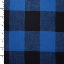 Royal Blue and Black Buffalo Plaid Flannel