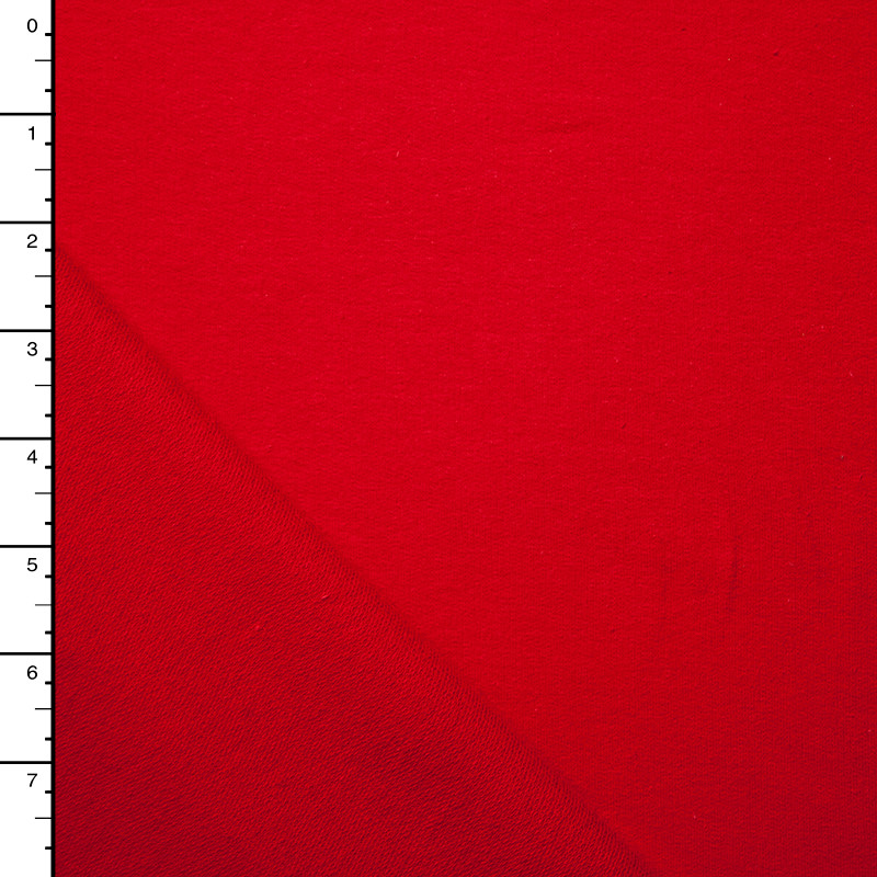 Soft Red Stretch French Terry