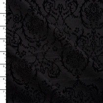 Black on Black Ornate Glocked Stretch Ponte De Roma Knit