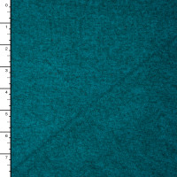 Teal Heather Brushed Stretch Sweater Knit