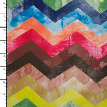 Multi Color Marbled Chevron Nylon/Lycra