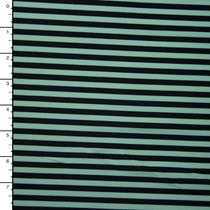 Mint and Black Narrow Stripe Nylon/Lycra