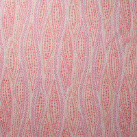 Pink and Orange Swirling Leaves and Flowers 'London Calling' Cotton Lawn