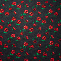 Roses on Mottled Charcoal Pattern Liverpool Knit